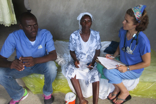 2015 Haiti 20 SE Sante Total clinic Jos & Domnica F w patient-t