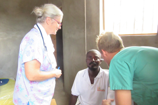 2015 Haiti 20 SE Sante Total clinic Sue R & Geoff H w patient-t