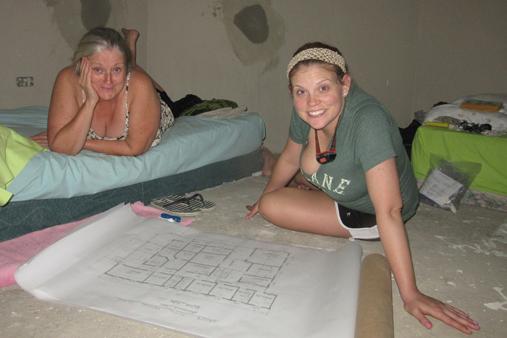 2015 Haiti 21 SE plans for new Sante Total clinic Sue R & Alison S-t